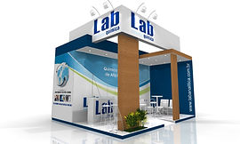 Projeto de stand para a empresa LAB Química.