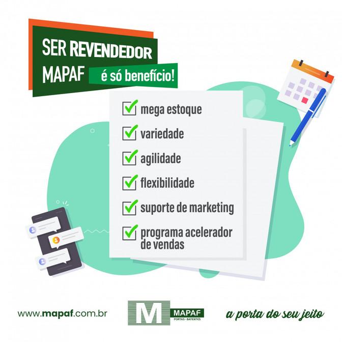 Ser Revendedor MAPAF é só Benefício!
