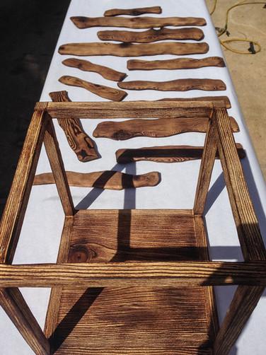 Wood & Aluminum     UNT Sculpture