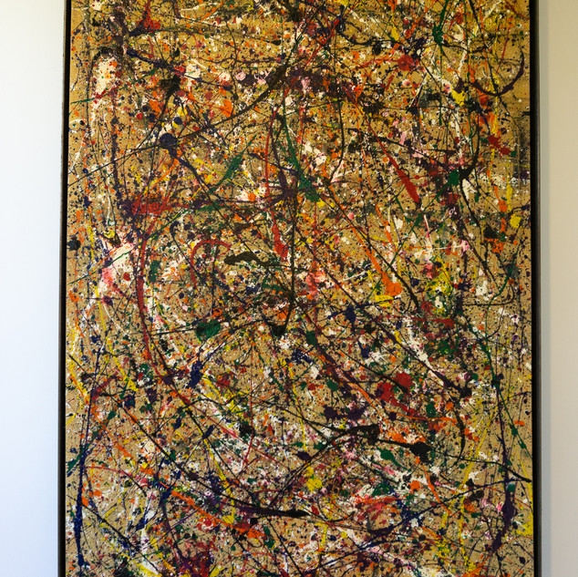 "58 3/4""h x 34""w x 2 1/2""d Abstract 