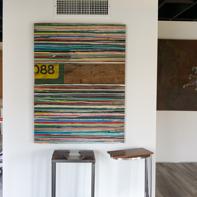 "54""h x 41""w x 1 1/2""d collage 