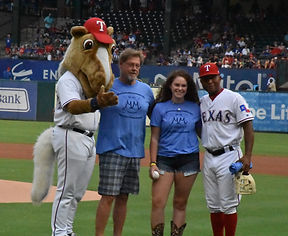 Michaels Memories Texas Rangers First Pitch 2019