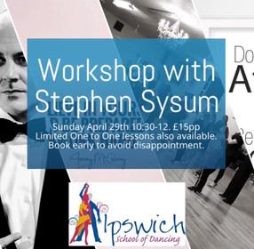 Workshop with Stephen Sysum.