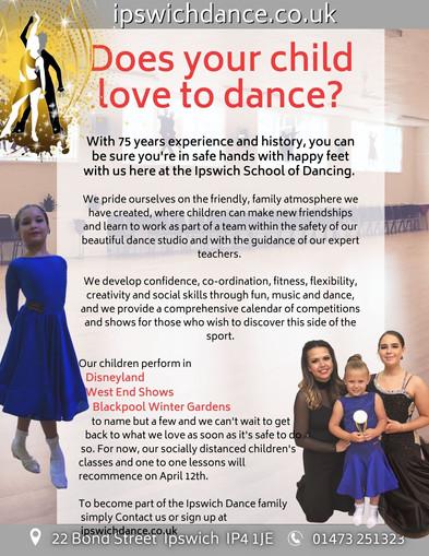 IPswich Dance children