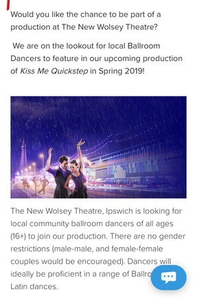 Would you like to be part of a production at the New Wolsey theatre?