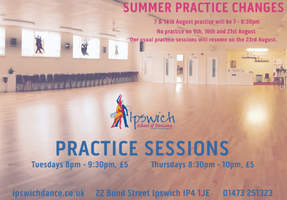 Summer Practice Session Changes