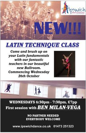 NEW!!! LATIN TECHNIQUE CLASS