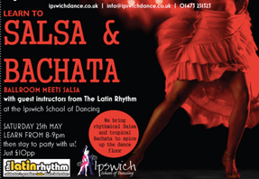 Learn to Salsa with us this Saturday!