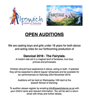 Open Auditions for Dancical 2019