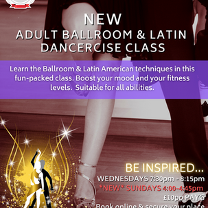 Sunday Adult Dancercise Classes added