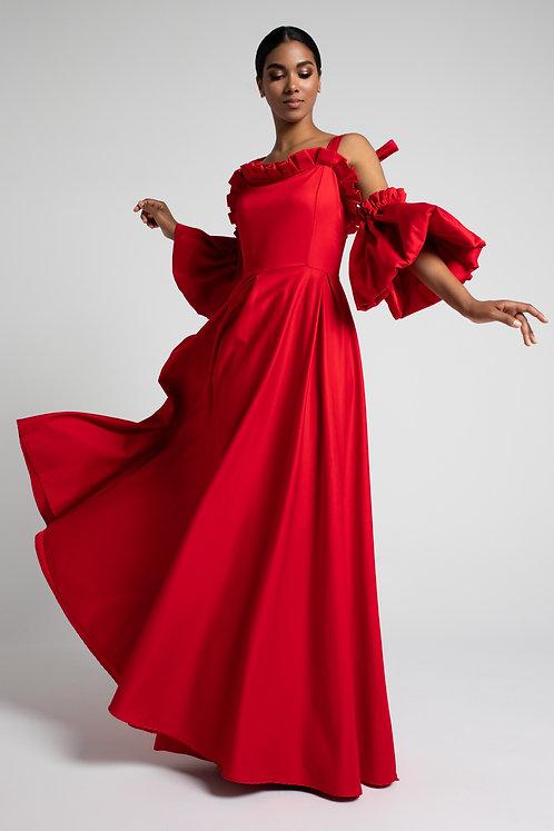 Suknia Czerwona Maxi