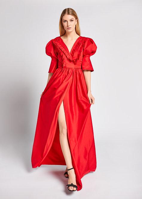 chili red dress