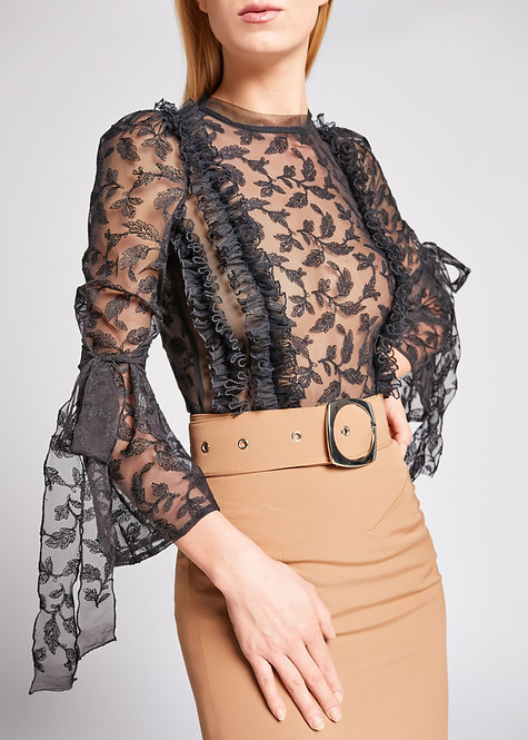black lace blouse