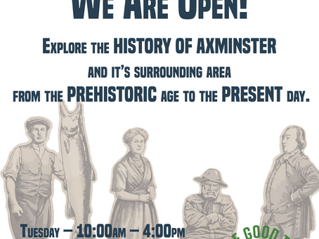 Axminster Heritage Centre is Open