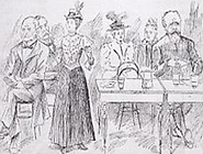 Cartoon Margaret Addressing a Committee.