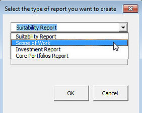 Select type of report