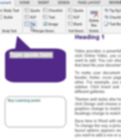 Margin text boxes