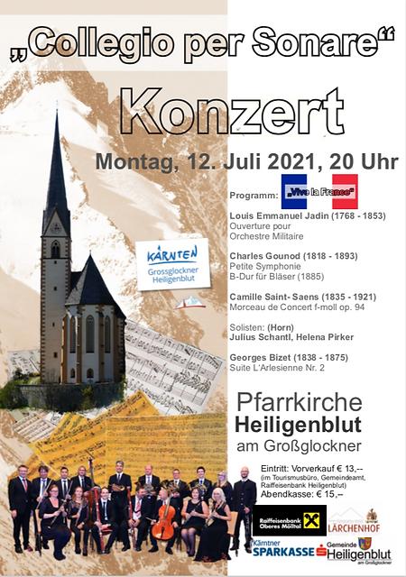 Kirchenkonzer in Heiligenblut mit Colleg