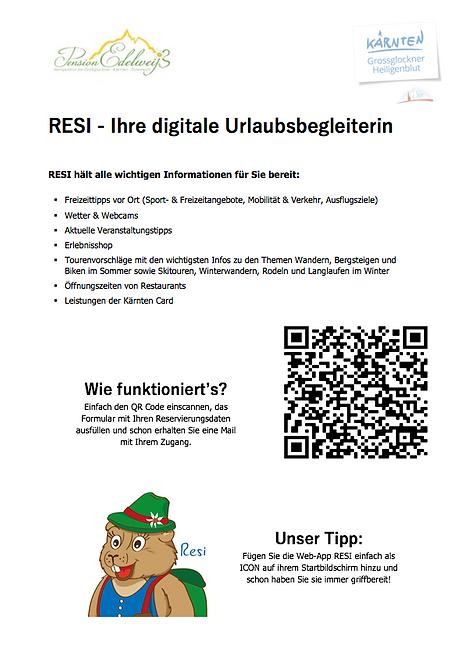 RESI - Ihre digitale Urlaubsbegleiterin.