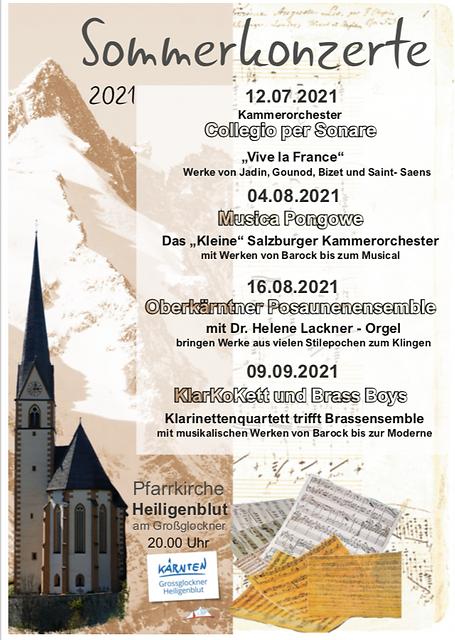 Sommerkonzerte 2021 in der Pfarrkirche S