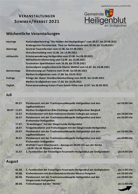 Veranstaltungen Sommer 2021 in Heiligenblut am Großglockner 01.png