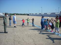 Volunteers with pilots-in-training