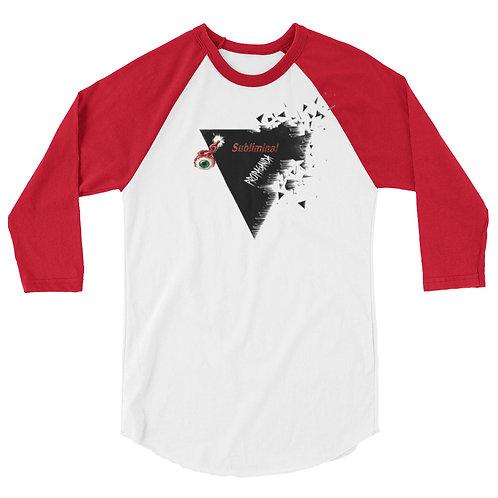 Subliminal Propaganda 3/4 sleeve shirt