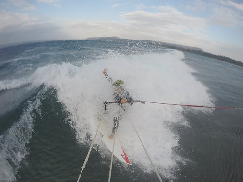 KITESURFING WAVE RIDE + lessons + transportation + equipment + surf insurance