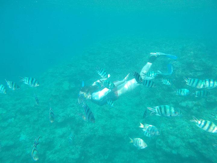 onna son snorkeling okinawa