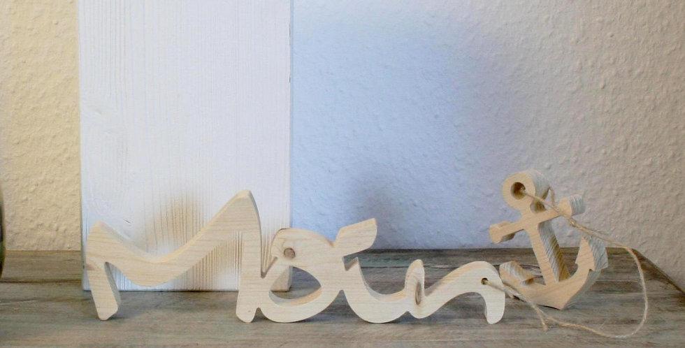 Moin + Anker - 3D Schriftzug