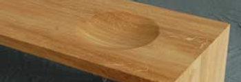Mulde in der Tischoberfläche
