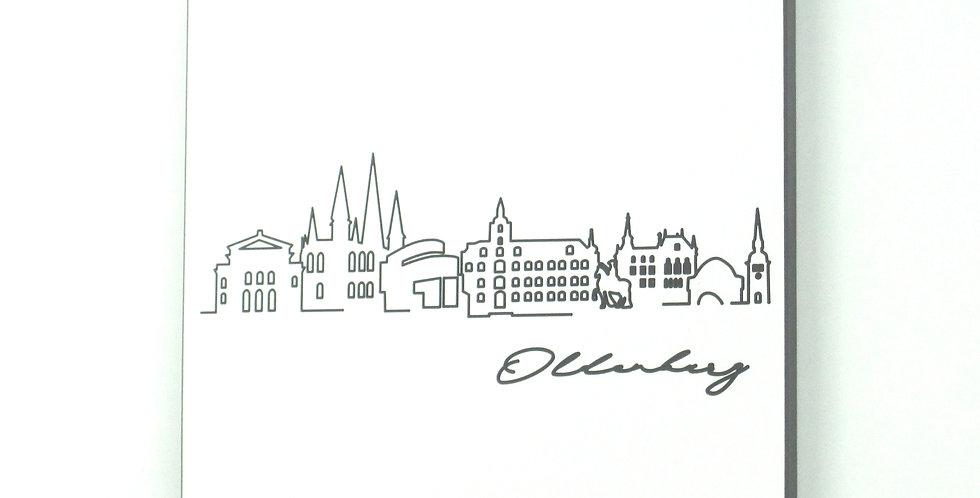 Skyline Oldenburg - Wandbild