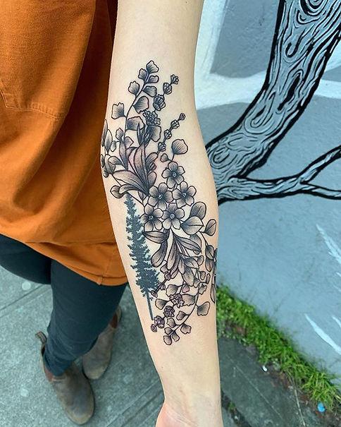 Here's a custom botanical piece I design