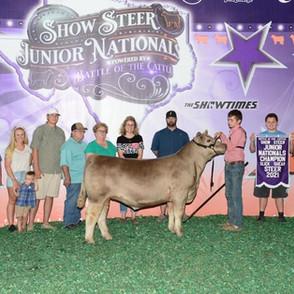 Kaden Mason Show Steer Jr. Nationals Champion Slick Shear