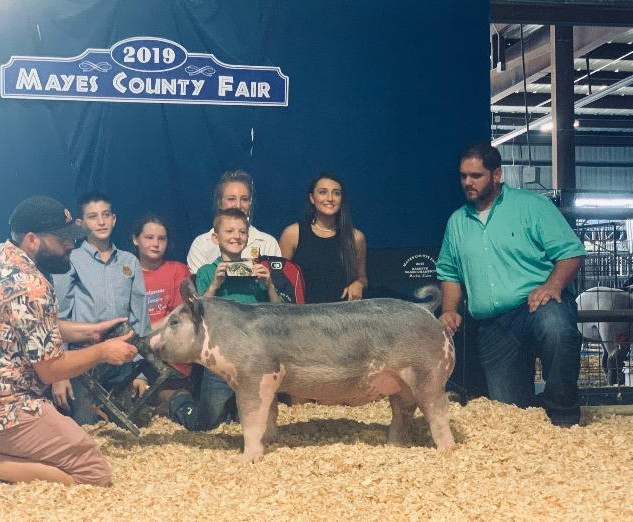 Cauy Craig Mayes County Fair Reserve Grand Overall