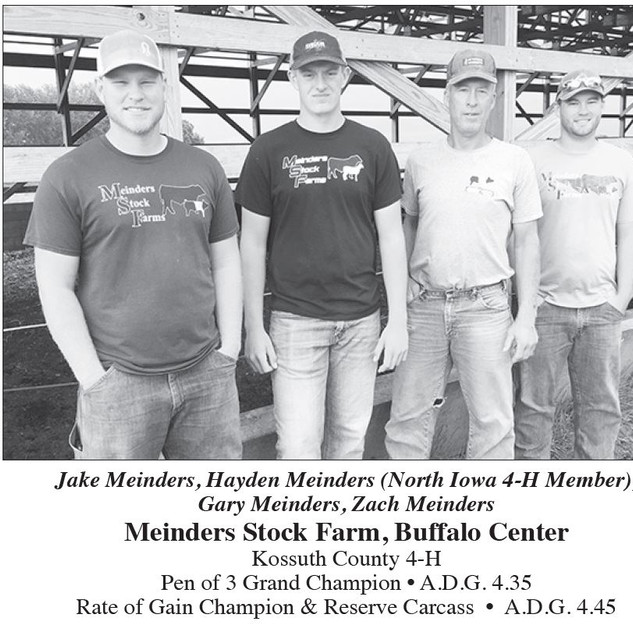 Meinders Stock Farm Kossuth County 4-H Commercial Gain