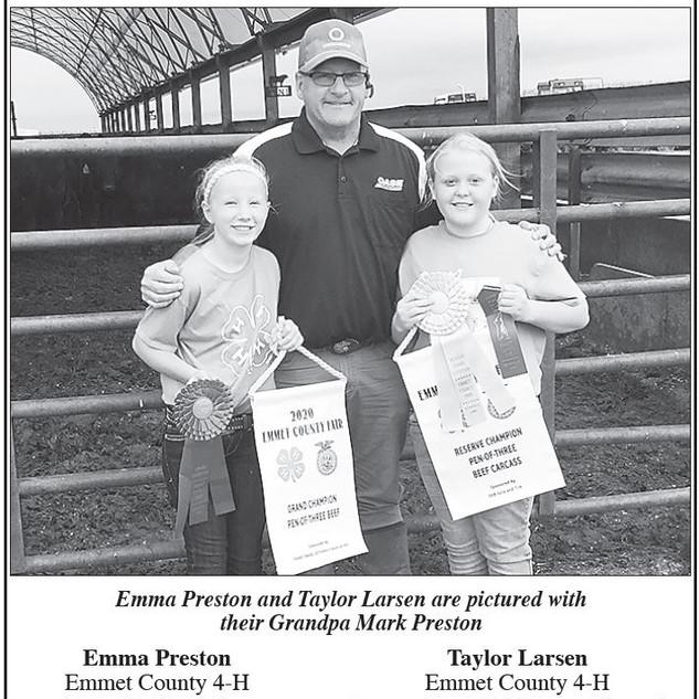 Emma Preston & Taylor Larsen  Emmet County 4-H