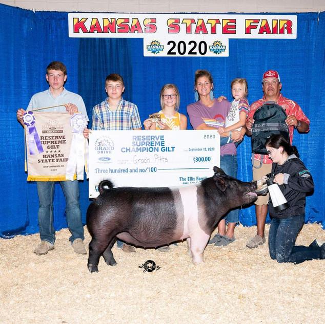 Gracin Pitts  Kansas State Fair  Reserve Supreme Gilt