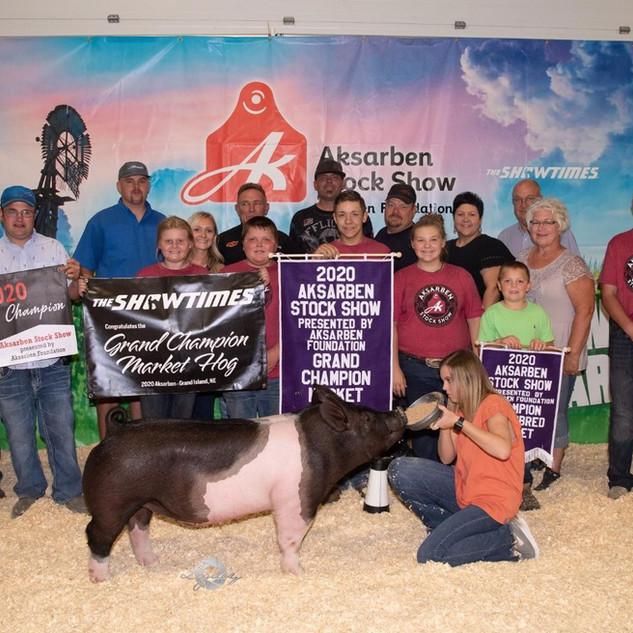 Vogele Family  Aksarben  Grand Champion Market Hog
