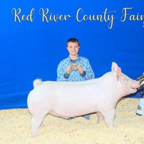 Logan McEwin  Red River County Fair Reserve Grand Champion