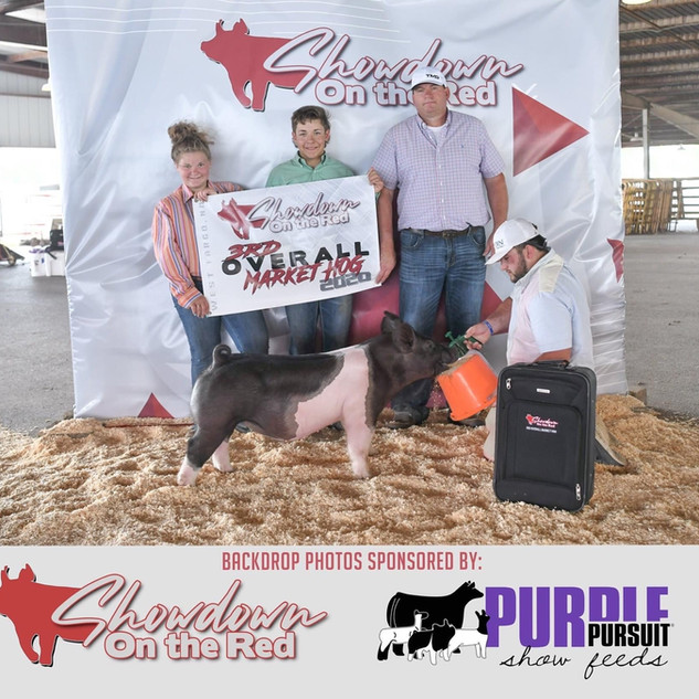 Vogele Family  Showdown on the Red  3rd Overall Market Hog