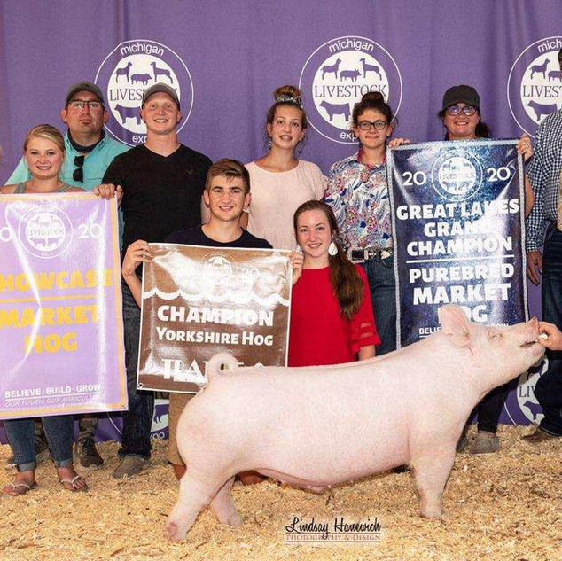 Meah Palmatier  Michigan Livestock Expo  6th Overall