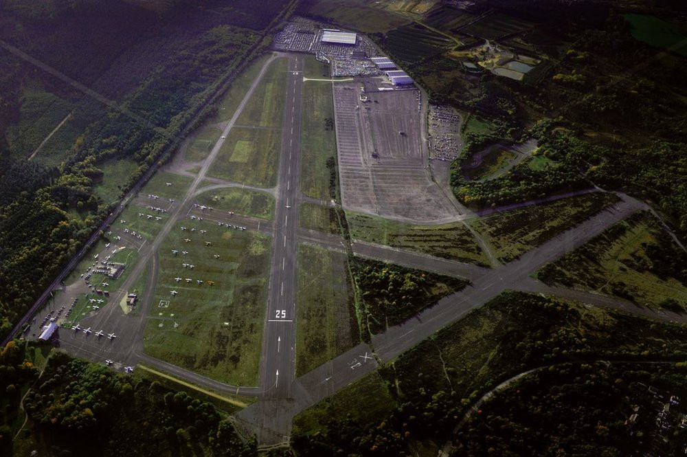 Views of Blackbushe Airport from the air