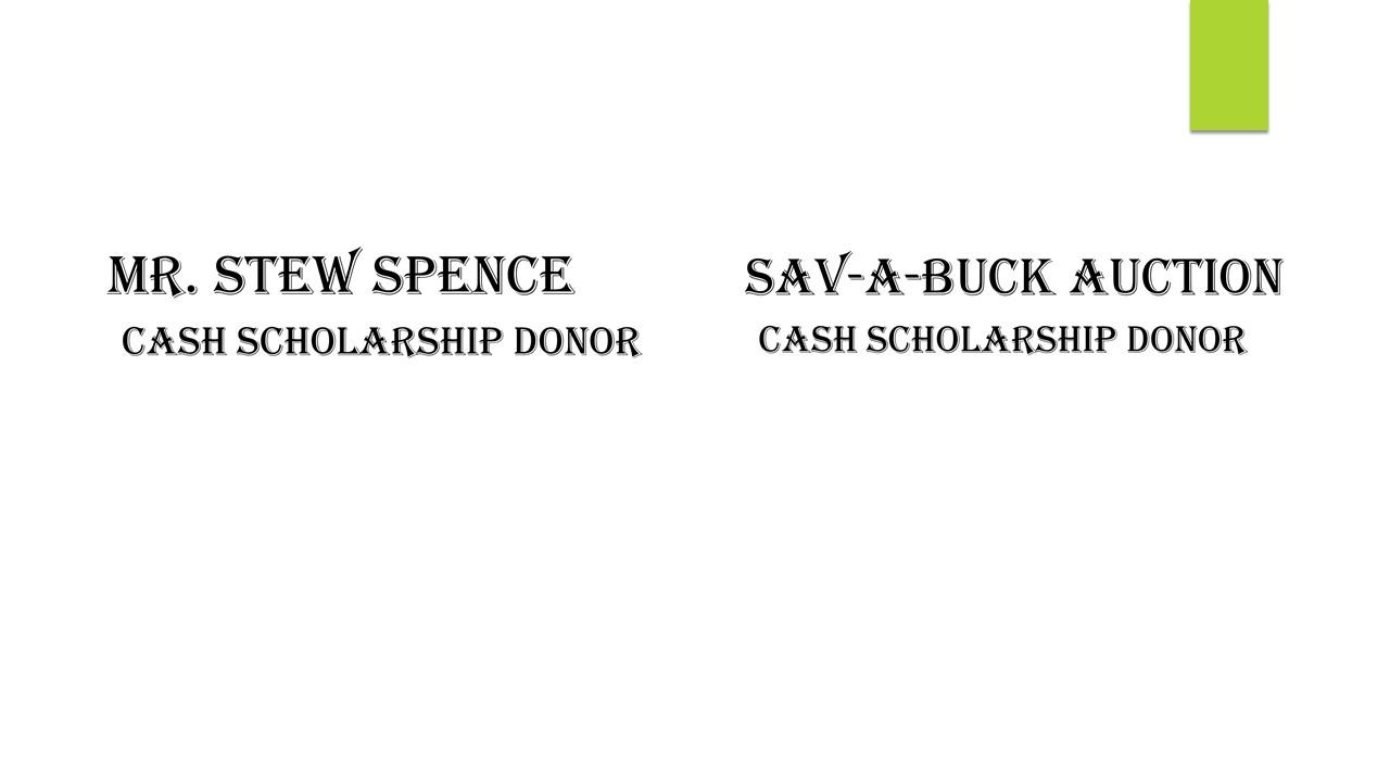 Mr. Stew Spence Since 2017