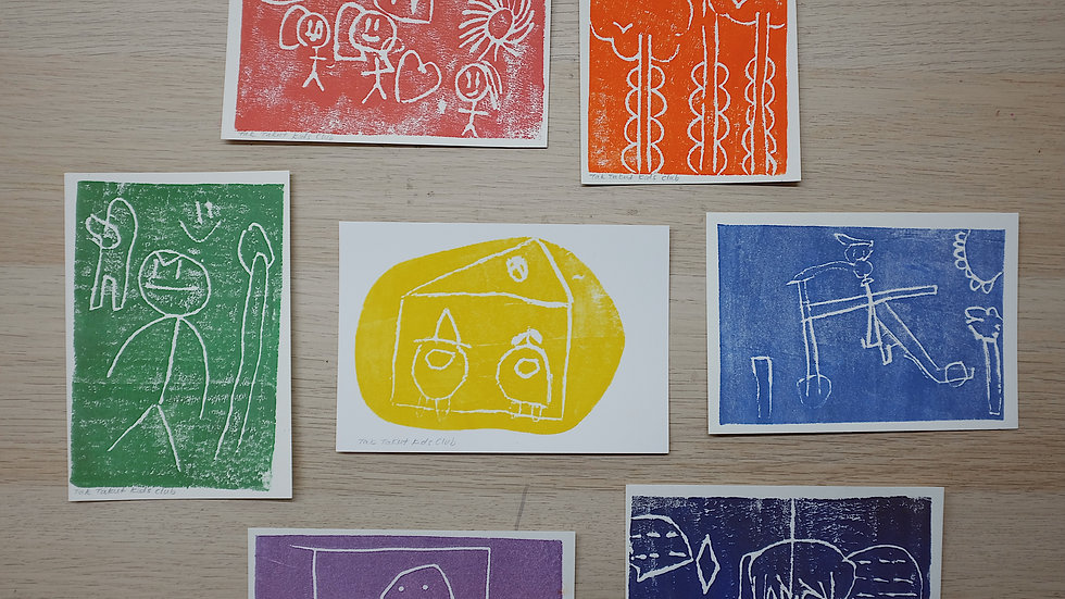 Hand-Printed Cards