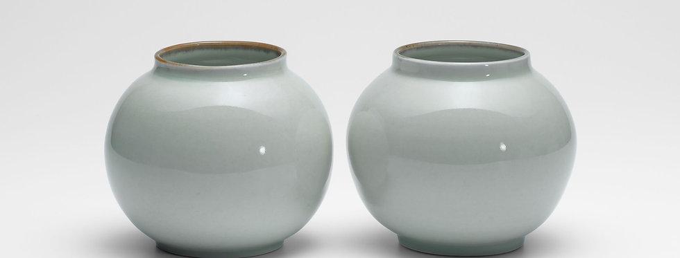 Small, Celadon Moon Jars
