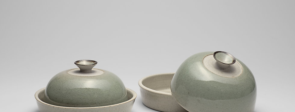 Round Butter dishes or small cheese dishes