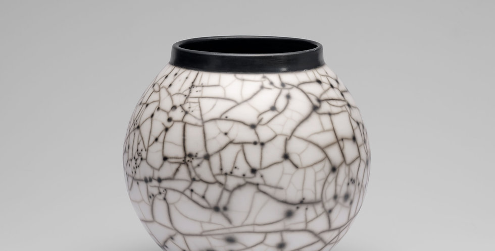 Small Naked Raku Moon Jar
