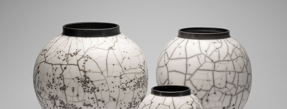 Large Naked Raku Moon Jars