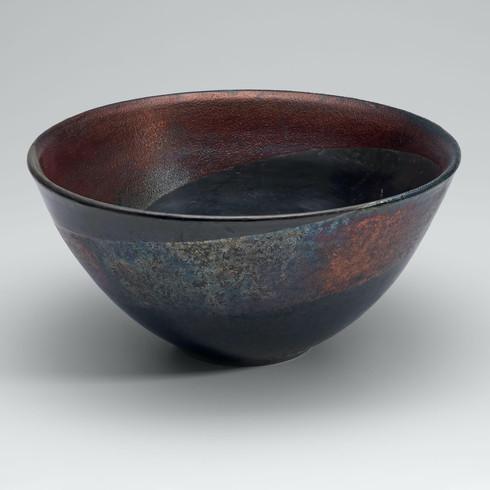 Raku Swirl bowl